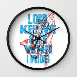 Keep Me Safe Wall Clock