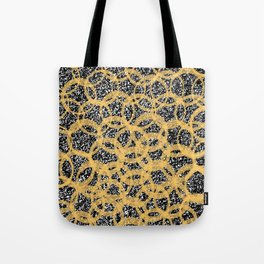 Abstract Beehive Yellow & Black Pattern Tote Bag