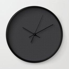 Black & Grey Simulated Carbon Fiber Wall Clock