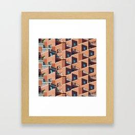 A Study of Balconies Framed Art Print