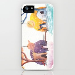 Penguins and their Bridge Between Sky Castle and Igloo with Ocean iPhone Case
