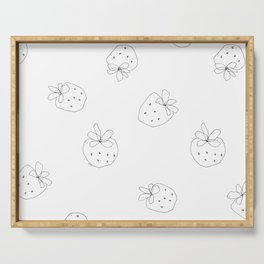 Your Color no.2 - strawberry illustration fruit pattern Serving Tray