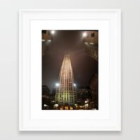 30 rock Framed Art Prints featuring 30 Rock by Andru Valpy