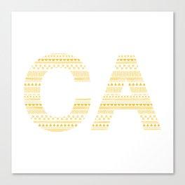 Typographic CA - Sunflower Canvas Print