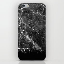Black Gray Marble #1 #decor #art #society6 iPhone Skin