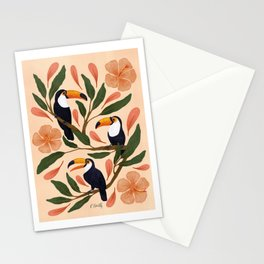 Toucans in the Hibiscus Stationery Cards