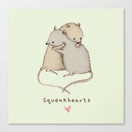 Squeakhearts Canvas Print