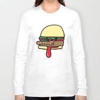 burger Long Sleeve T-shirts featuring Burger by Espenbke