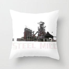Steel Mill Steel Worker Blast Furnace Throw Pillow