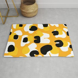 abstract yellow leopard Rug