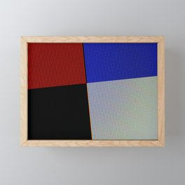 Extreme macro of colored pixels from screen Framed Mini Art Print
