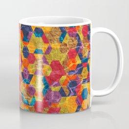 Colorful Half Hexagons Pattern Coffee Mug