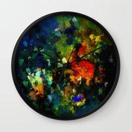 Dark Abstract Painting Wall Clock