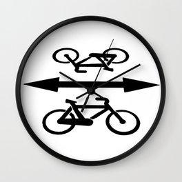 Bike lane Wall Clock