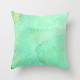 Abstract Jade Waters  Throw Pillow