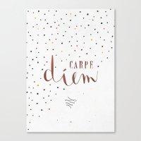 carpe diem Canvas Prints featuring Carpe Diem by Earthlightened