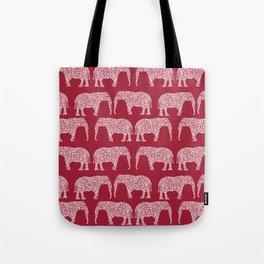 Alabama bama crimson tide elephant state college university pattern footabll Tote Bag