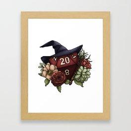 Wizard Class D20 - Tabletop Gaming Dice Framed Art Print