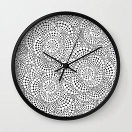 Flower-op-art Wall Clock