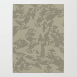Eagle Taupe Gray Poster