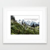tolkien Framed Art Prints featuring Alpine Wildflowers Tolkien Quote  by Elliott's Location Photography