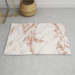 Elegant ivory gray rose gold glitter marble pattern Rug
