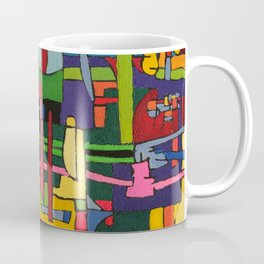 Colors in Collision 3 - Geometric Abstract of Colors that Clash Coffee Mug