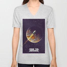 Tour the Universe - Sci fi poster Unisex V-Neck