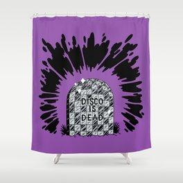 Disco is Dead Shower Curtain