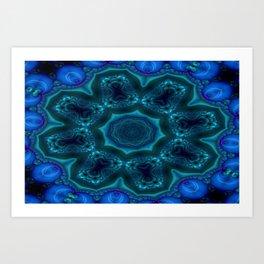 Battling At The Chasm Mandala 11 Art Print