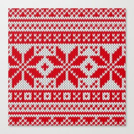 Winter knitted pattern 6 Canvas Print