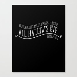 ALL HALLOW'S EVE BLESSING Canvas Print