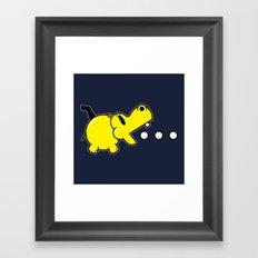 Waka Waka Hippos Framed Art Print