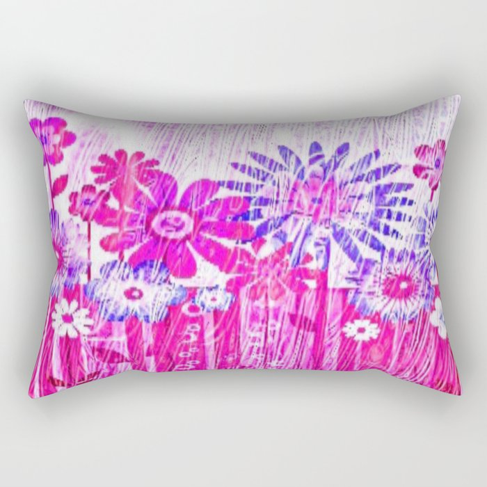 Blossoming Spring Flowers Rectangular Pillow