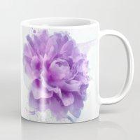 dahlia Mugs featuring Dahlia by Ciro Design