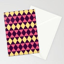 Geometric Diamond Shapes Stationery Cards