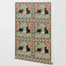 Romantic cats Wallpaper