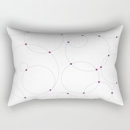 Connected by Love Light Rectangular Pillow