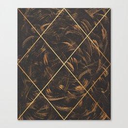 Gold & Paint Strokes 01 Canvas Print
