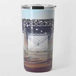Surreal Bridge - circle graphic Travel Mug