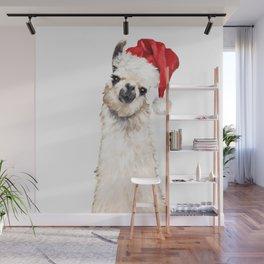 Christmas Llama Wall Mural