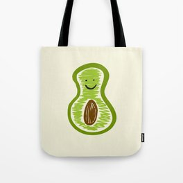 Smiling Avocado Food Tote Bag
