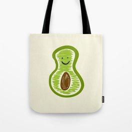 Smiling Avocado Food Tote Bag