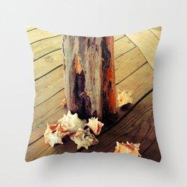 Belizean Shells Throw Pillow