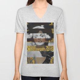 Klimt's Judith and the Head of Holofernes & Marlene Unisex V-Neck