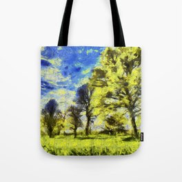 English Summer Farm Van Gogh Tote Bag