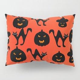 Halloween with cats and pumpkins Pillow Sham