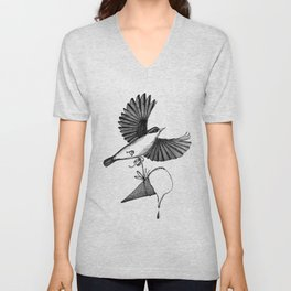 nuthatch delivers an ice cream cone Unisex V-Neck
