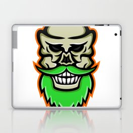 Bearded Skull or Cranium Mascot Laptop & iPad Skin