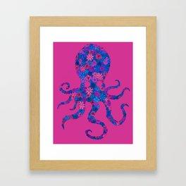 Octo Bloom Framed Art Print
